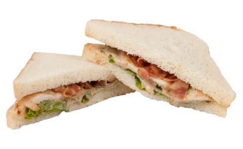 Chicken and Bacon Caesar Sandwich